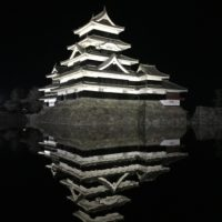 今夜の松本城